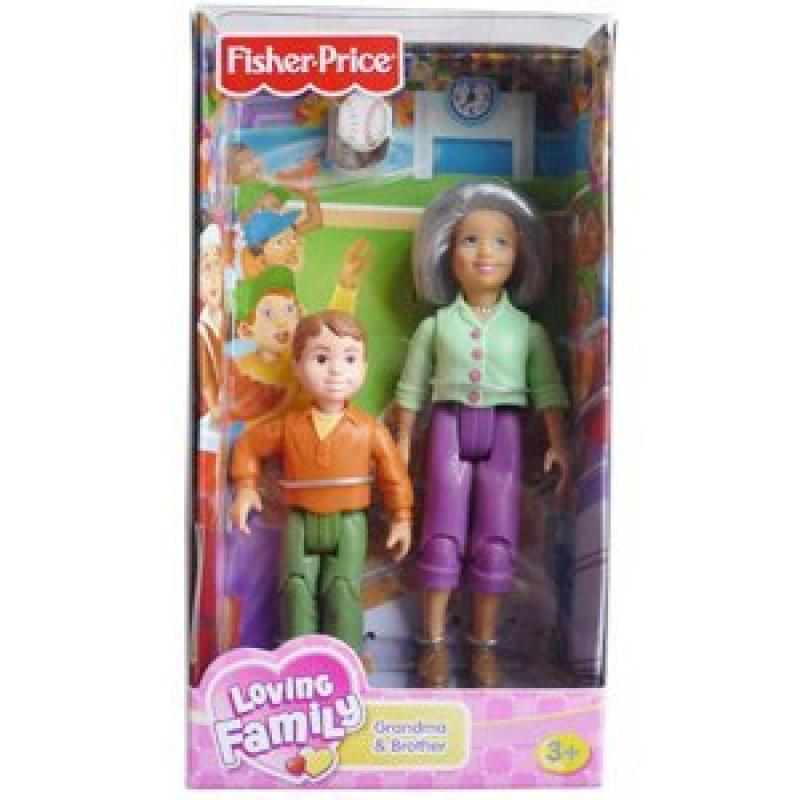 Fisher Price Loving Family Grandma and Brother Dolls