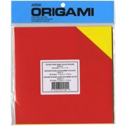 """Origami Paper 7""""X7"""" 36 Sheets-Assorted Double Sided Colors"""