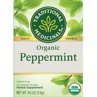 Traditional Medicinals, Organic Peppermint, Tea Bags, 16 Count