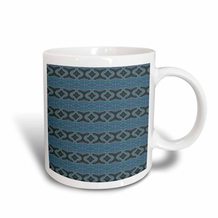 3dRose Mystic Munchies Geometric Abstract Pattern Textile - Ceramic Mug, 11-ounce
