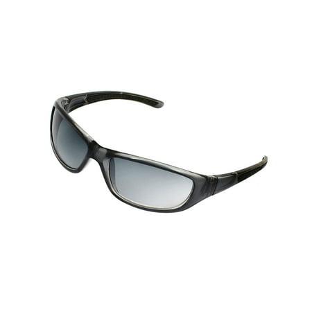 Lady Plastic Arm Single Bridge Gradual Lens Eyes Protect Sunglasse - Baby Eyes Grey Halloween Contact Lenses