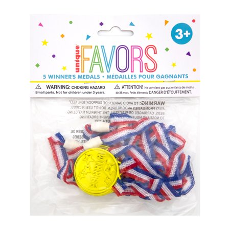 Plastic Award Medal Party Favors, 24ct