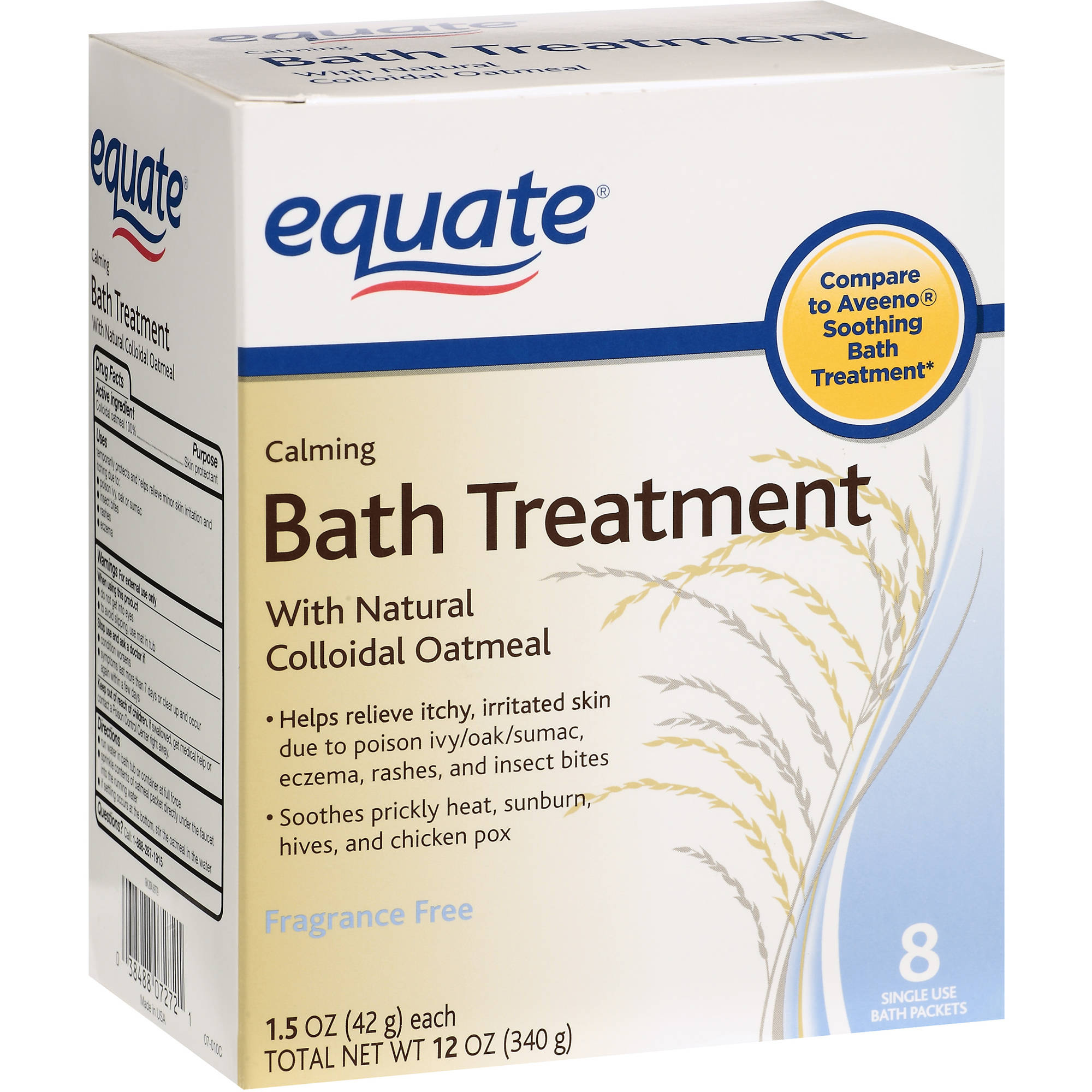 Equate Calming Bath Treatment Packets, 8 count