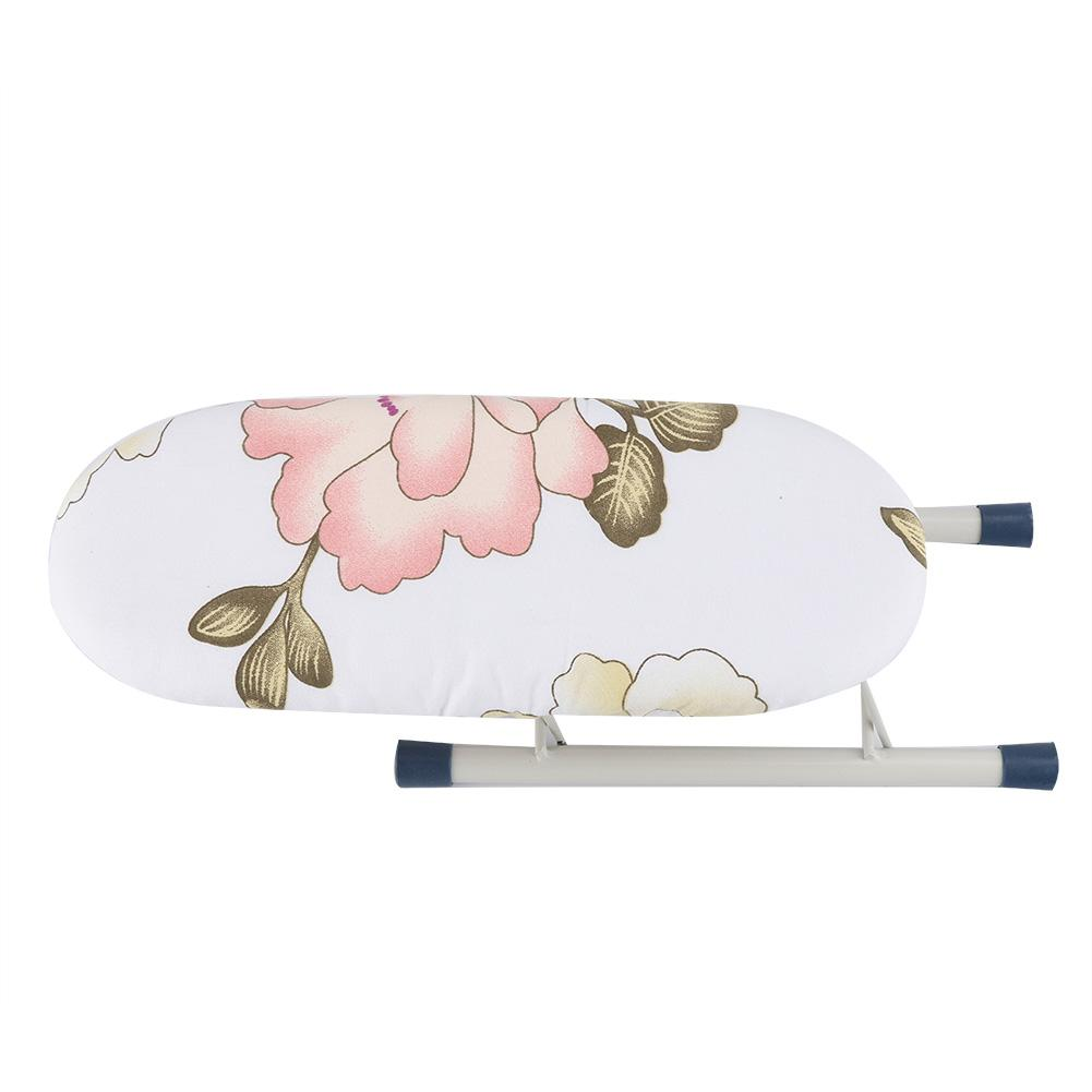 Akozon Mini Ironing Board Foldable Space-Saving Home Travel Sleeve Cuffs Collars Handling Ironing Table Peony