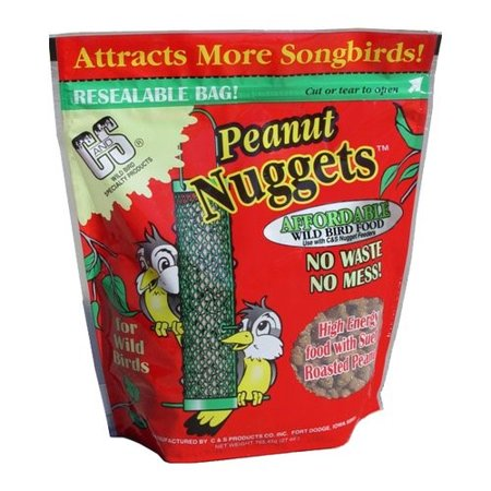 (2 Pack) C&S Peanut Suet Nuggets, 27 oz by C&S Products