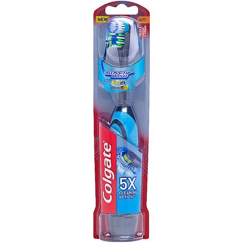 Colgate 360 Total Advanced Floss-Tip Bristles Powered Toothbrush, Soft