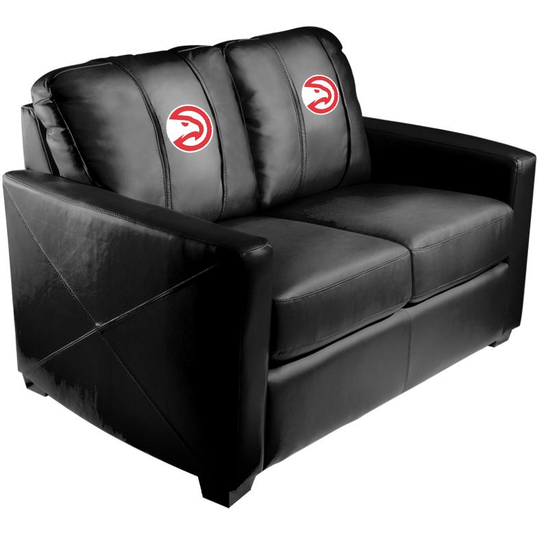 Atlanta Hawks NBA Silver Love Seat