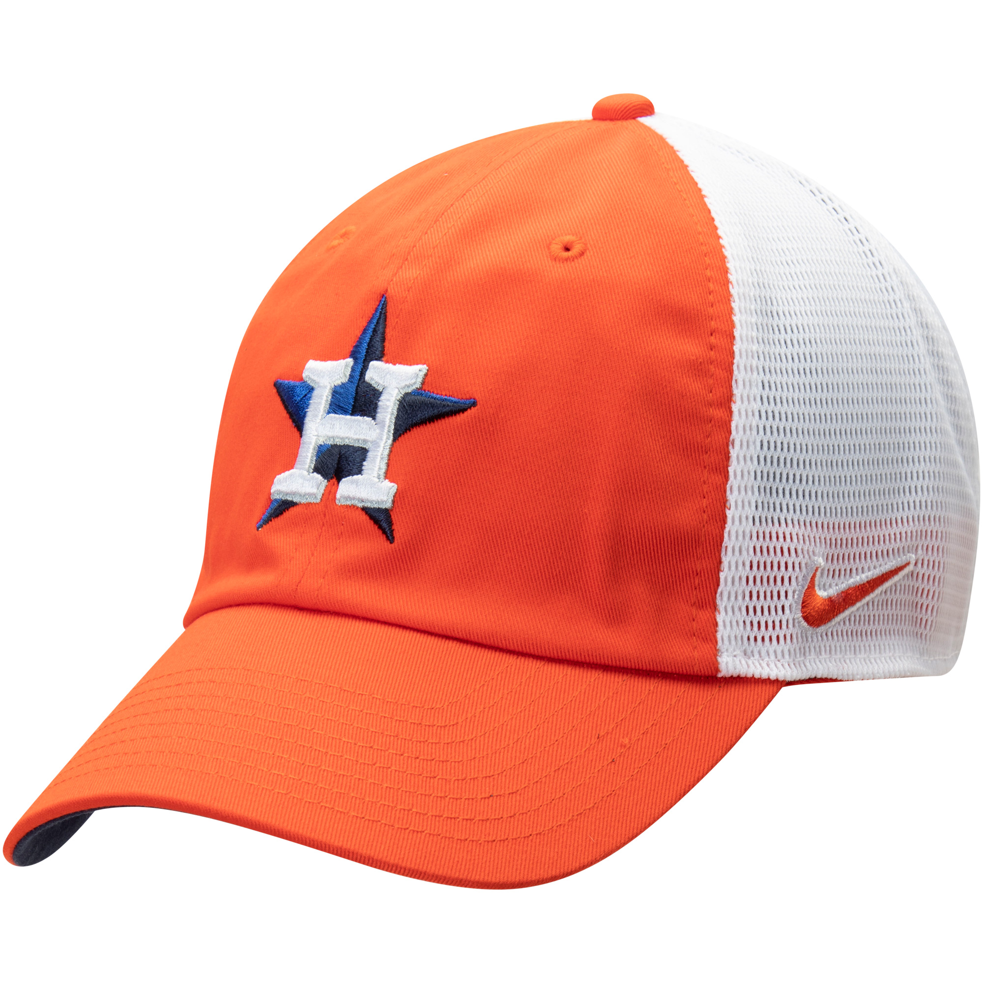 Houston Astros Nike Heritage 86 Team Trucker Adjustable Hat - Orange/White - OSFA