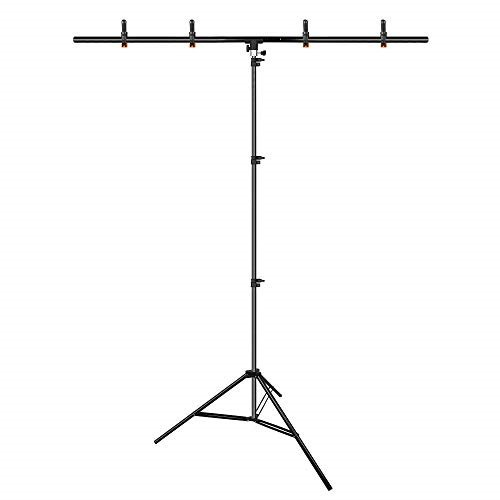 Emart T Shape Portable Background Backdrop Support Stand Kit 5ft Wide 8 5ft Tall Adjustable Photo Backdrop Stand With 4 Spring Clamps Walmart Com Walmart Com