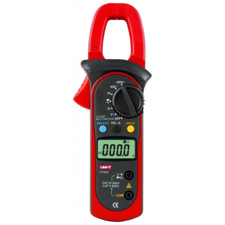 Digital Clamp Multimeters UT-203 Ohm DMM DC AC Current Voltmeter 400a ()