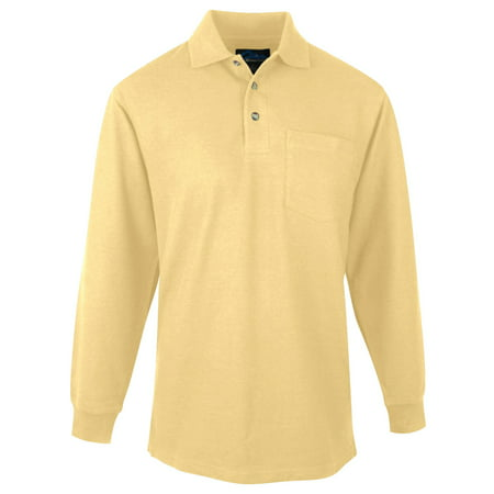 Tri Mountain Mens Big And Tall Pocket Pique Golf Shirt