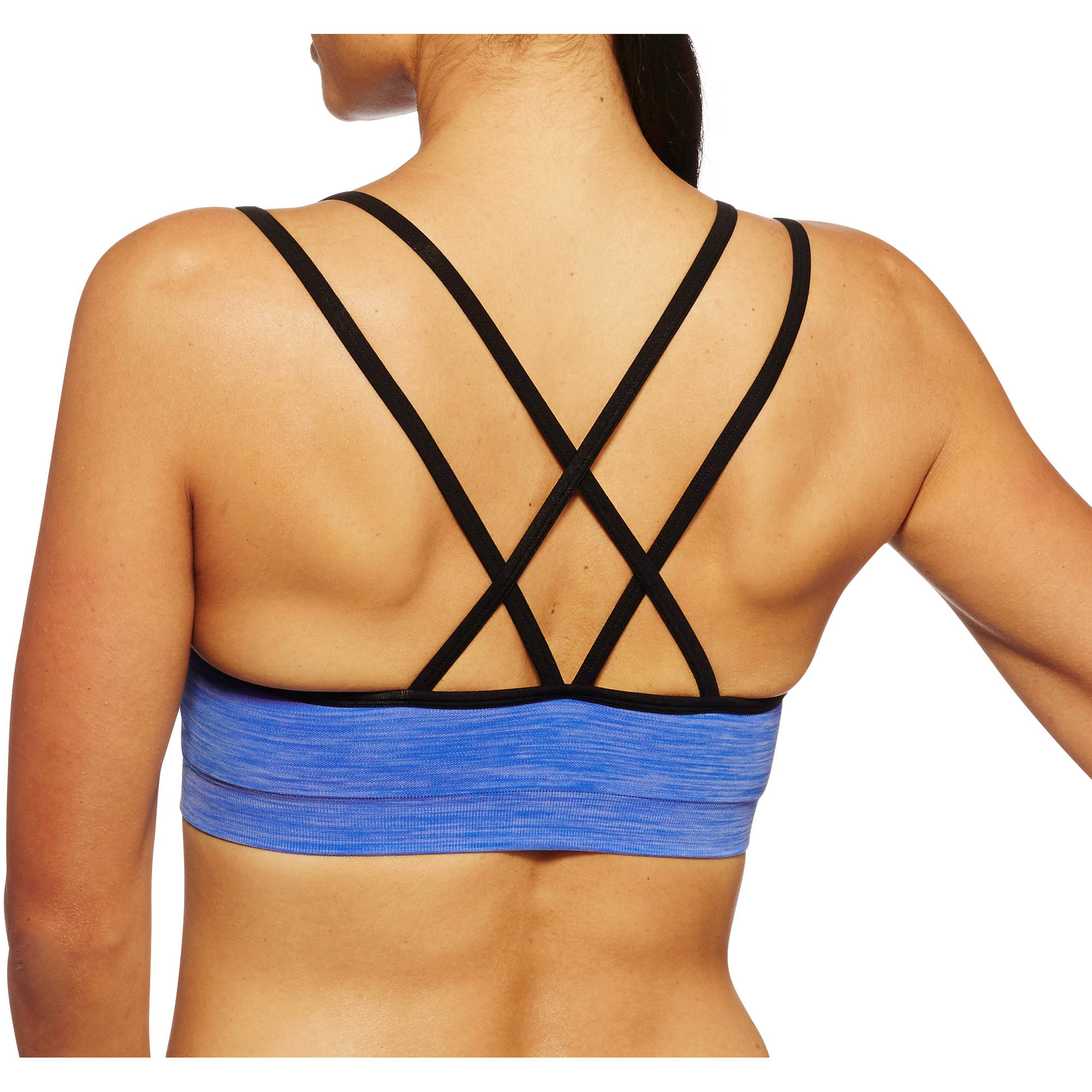Danskin Now Women's Active Seamless Strappy Back Cami Sports Bra
