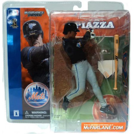Mcfarlane Mlb Sports Picks Series 1 Mike Piazza Action Figure  Black Jersey