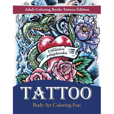 Tattoo Body Art Coloring Fun - Adult Coloring Books Tattoos Edition (Tattoo Dog)