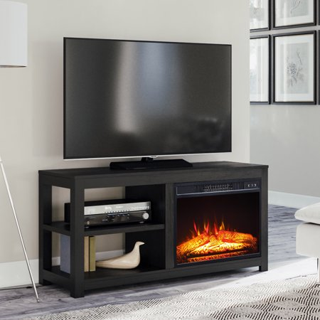 Mainstays 2-Shelf Media Fireplace TV Stand for Flat panel TVs up to 60