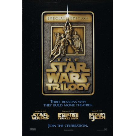 Star Wars Trilogy Movie Poster Metal Sign 8Inx 12In