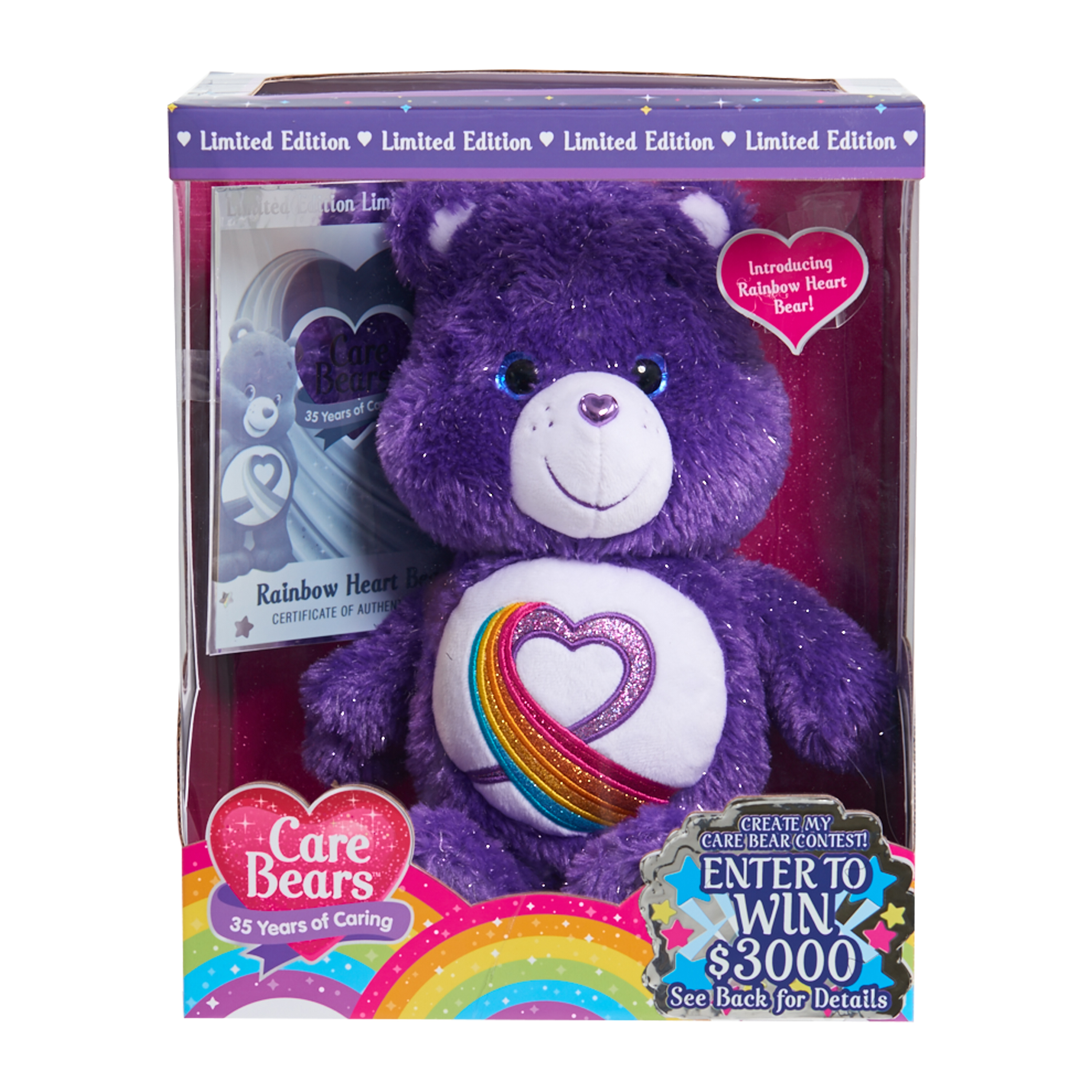 Care Bears Rainbow Heart 35th Anniversary Plush