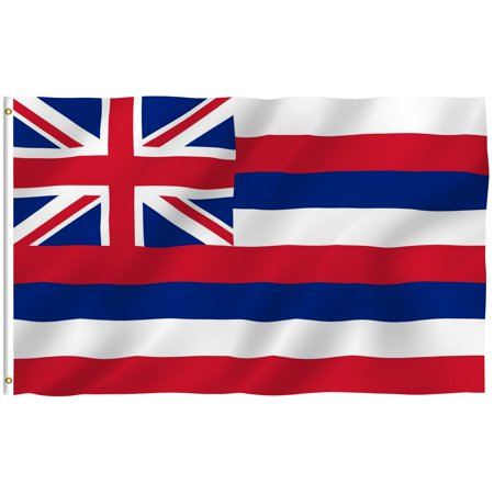 ANLEY [Fly Breeze] 3x5 Feet Hawaii State Flag - Vivid Color and UV Fade Resistant - Canvas Header and Double Stitched - HI Flags Polyester with Brass Grommets 3 X 5 Ft