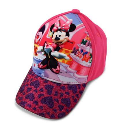 Disney Toddler Girls Minnie Mouse Character 3D Pop Baseball Cap, Pink, Age 2-4 - Girl Disney Characters