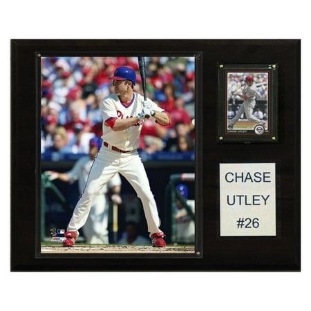 Philadelphia Phillies Parking - C&I Collectables MLB 12x15 Chase Utley Philadelphia Phillies Player Plaque
