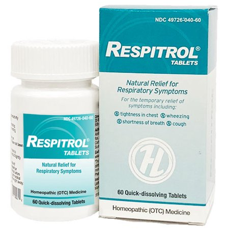 HelloLife Respitrol Tablets - For Safe, Temporary Relief of: Chest Tightness + Shortness of Breath + Wheezing +