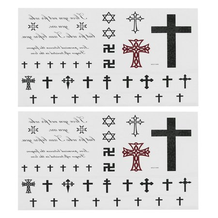 2 Pieces Religious Symbols Body Art Removable Sticker Temporary ...