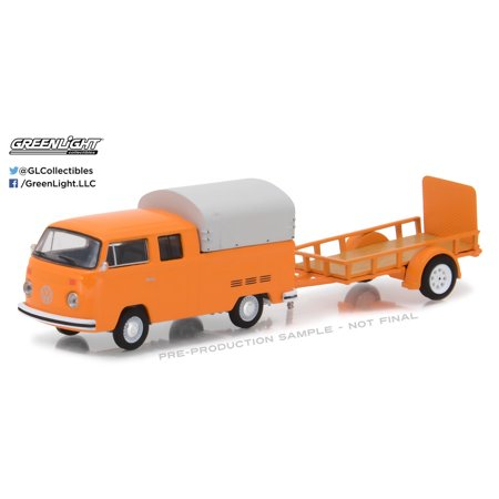 Greenlight 1:64 Hitch & Tow 11 1978 VW Type 2 Double Cab Pickup Trailer - Halloween 1978 Trailer Hd
