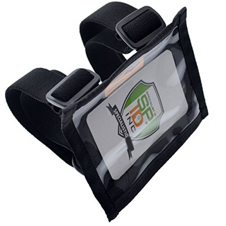 Armband Id Holder - Specialist ID Ultimate Military Armband ID Badge Holder - Heavy Duty Nylon I.D Card Holder with Two Adjustable Elastic Bands - Made in The USA (Black)