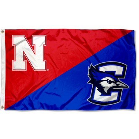 Rivalry Nebraska vs. Creighton House Divided 3x5 Flag