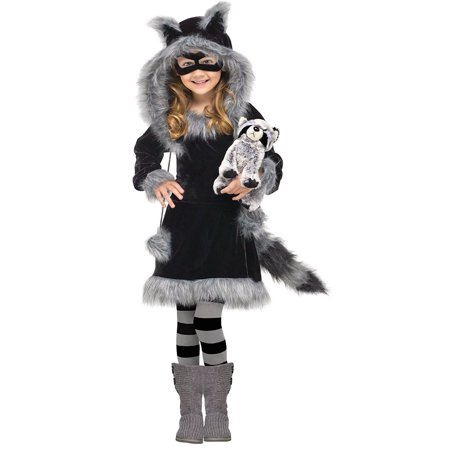 Sweet Raccoon Toddler or Girls Halloween Costume  3T-4T Years