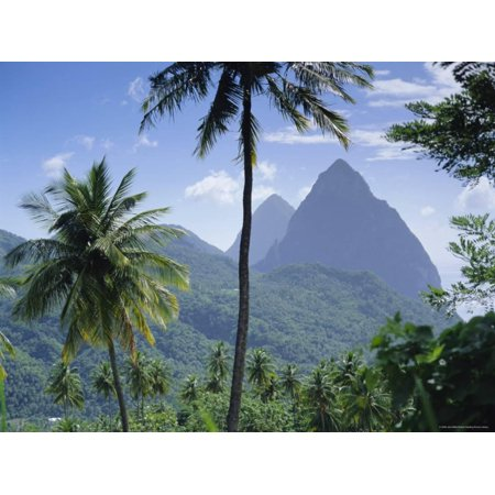 The Pitons, St. Lucia, Caribbean, West Indies Print Wall Art By John