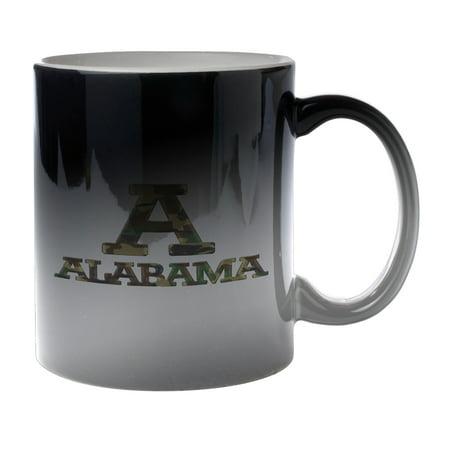 KuzmarK Black Heat Morph Color Changing Coffee Cup Mug 11 Ounce - Alabama Camouflage