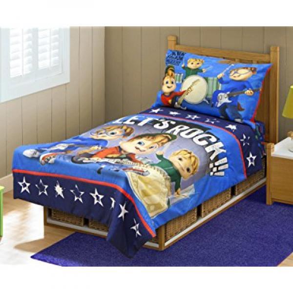 Alvinn & The Chipmunks Toddler Bedding Set, Blue/Navy