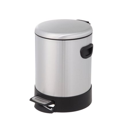 HomeZone 5-Liter Stainless Steel Round Step Trash Can with Dome Lid, Perfect way
