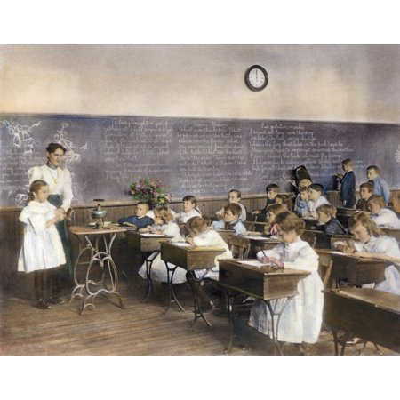 Elementary School 1899 Na Science Class Studying Water Vapor At The Second Division School Washington Dc Oil Over Photograph By Frances Benjamin Johnston Poster Print By Granger Collection