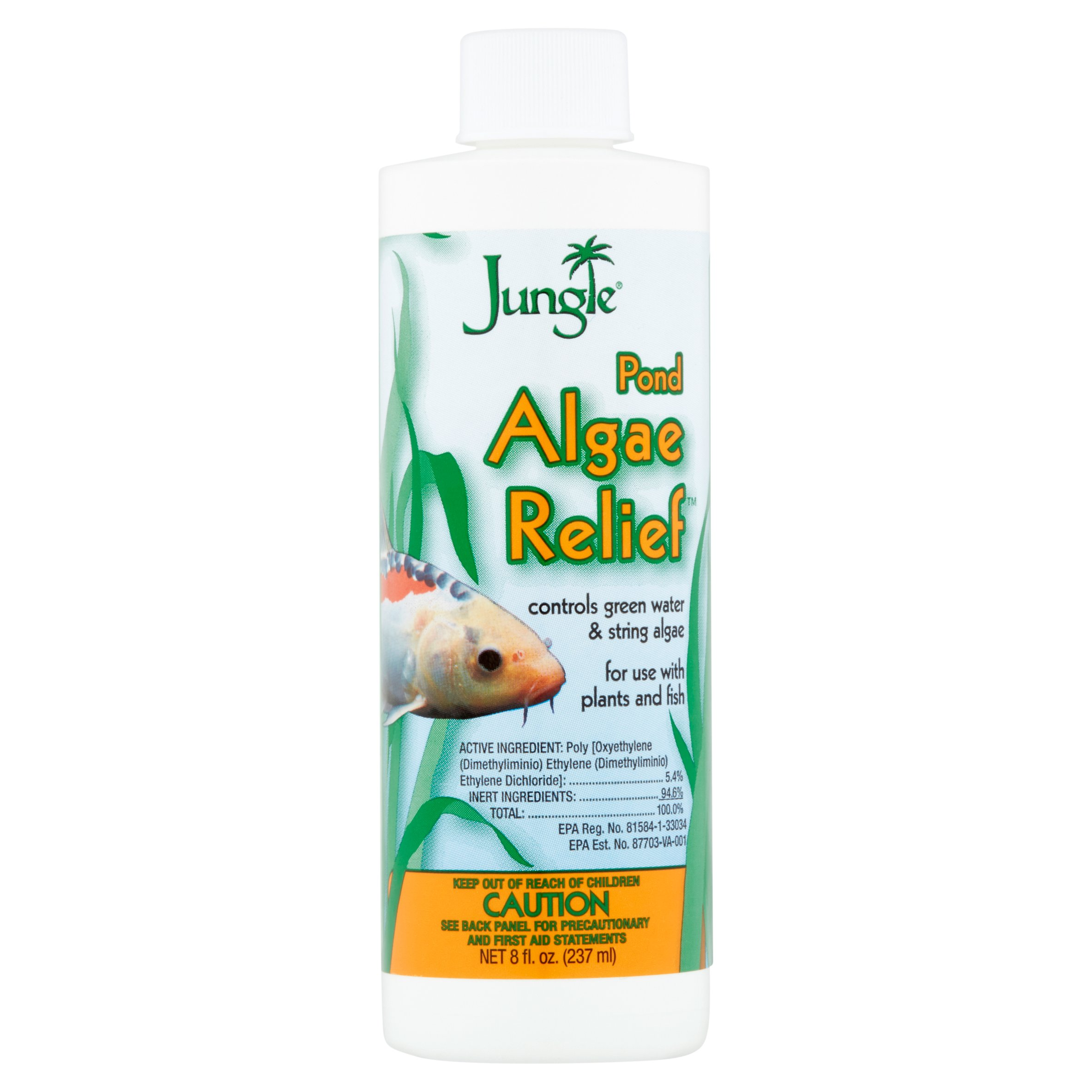 Jungle Pond Algae Relief Cleaner for Aquariums, 8-Ounce
