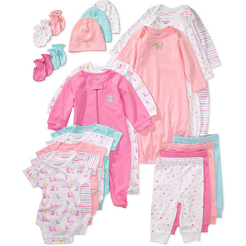 Garanimals - Newborn Girls' 21-Piece Layette Essentials Set
