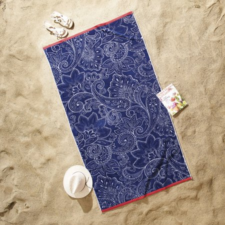 Better Homes And Gardens Sculpted Americana Paisley Oversized Beach Towel