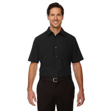 Ash City - North End Sport Red Men's Charge Recycled Polyester Performance Short-Sleeve Shirt - BLACK 703 - L - Ash City Oxford Shirt