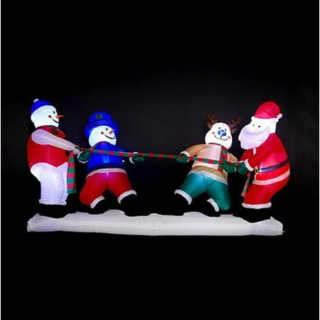 Stop Inflatable - Winter Lane Huge 10 Foot Christmas Tug-of-War Inflatable