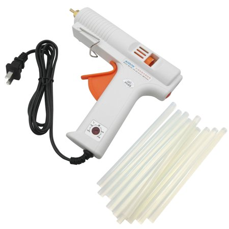 TrendBox Hot Melt Glue Gun + 10 Glue Sticks 1.1x20cm 120W Adjustable High Tempreature Melting Adhesive Handmade Craft DIY Home Office