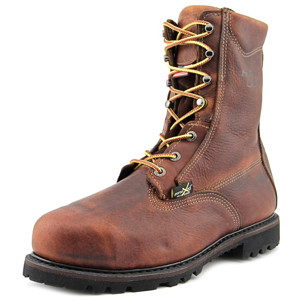 "HyTest by Wolverine HyTest USA 8"" Steel Toe EH MET Men US 8.5 Brown"