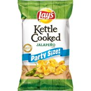 Lay's Kettle Cooked Potato Chips, Jalapeno, 13.5 oz Bag