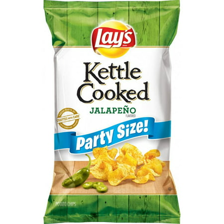 Lay's Kettle Cooked Jalapeno Potato Chips, 13.5 Oz. ()