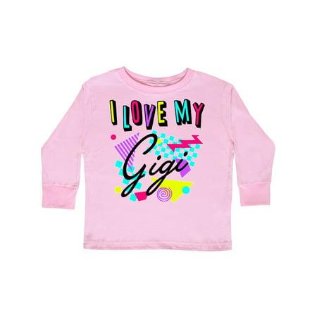 I Love my Gigi- 80s retro style Toddler Long Sleeve - 80s Long Sleeve