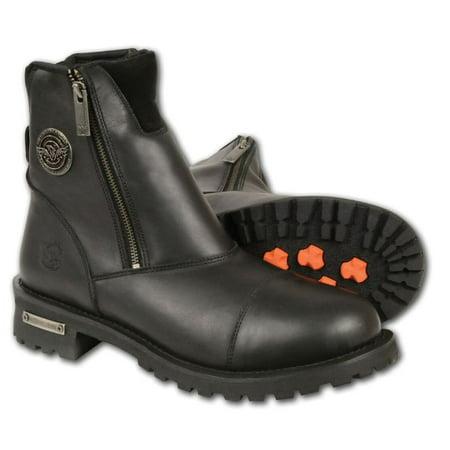 Milwaukee Mens Super Clean Double Sided Zipper Entry Boots Black-Regular (Super Zipper Boots)