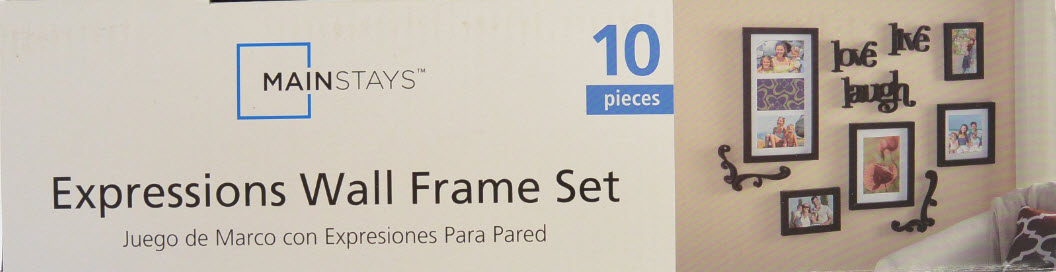 Wall Frame Set mainstays 10-piece expressions wall frame set - walmart