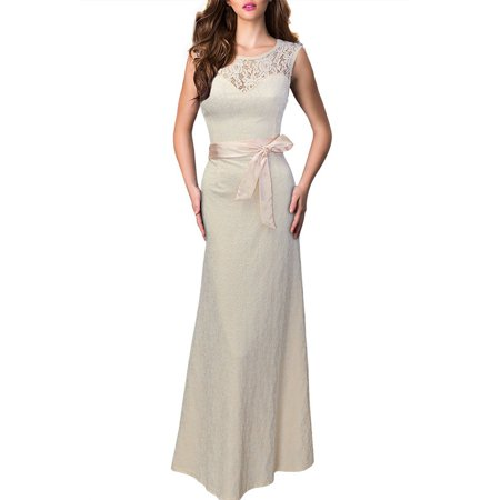203762fe32 Sexy Dance - Women Wedding Bridesmaid Formal Evening Cocktail Party Prom  Ball Gown Hollow Out Deep V Backless Dress Sleeveless Long Maxi Dresses -  Walmart. ...
