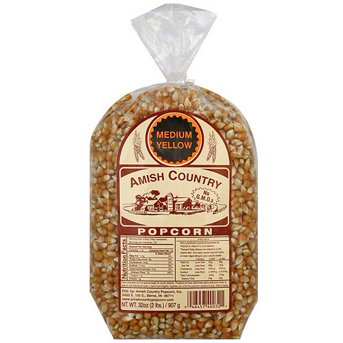 Amish Country Popcorn Medium Yellow Popcorn, 32 oz (Pack of 8) by Generic