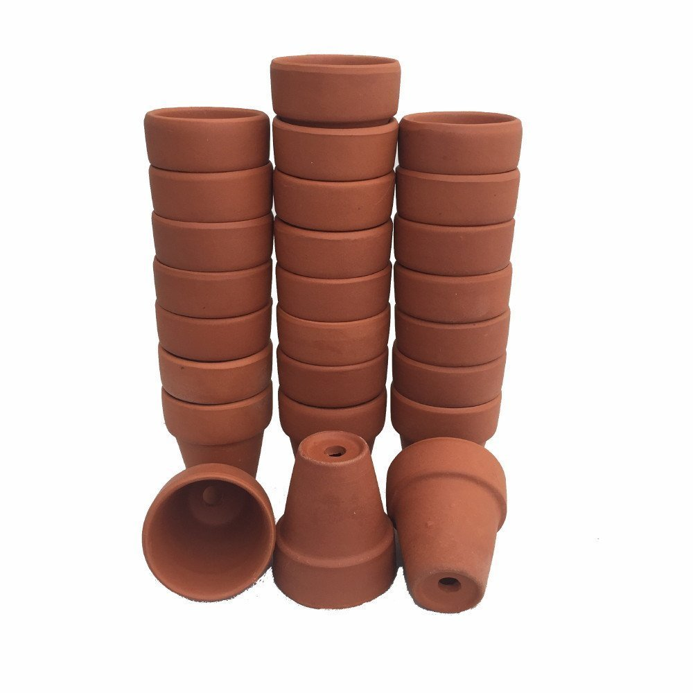 """25 - Mini 1 3/4"""" Clay Pots - Great for Plants and Crafts,..."""